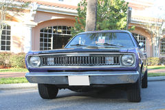 Old Plymouth Duster Car at the car show Royalty Free Stock Photography