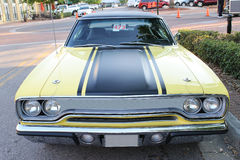 Old Plymouth GTX Car. The old Plymouth GTX car at the show Royalty Free Stock Images