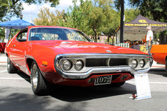 Old Plymouth Road Runner Car at the car show Stock Photos