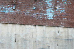 Old plywood with shabby paint. background. Stock Photo