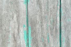 Old plywood siding with aqua paint peeled off Royalty Free Stock Photo