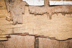 Old plywood table board Royalty Free Stock Photos