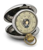Old pocket barometric altimeter Royalty Free Stock Images
