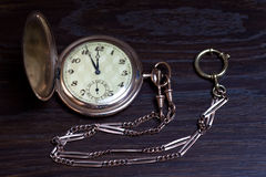 Old pocket clock Royalty Free Stock Image