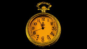 Old Pocket Clock stock footage