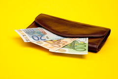 Old pocket with money Royalty Free Stock Photos