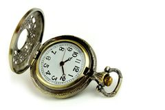 Old pocket watch. On white background Stock Photography