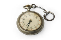 Old pocket watch. Antique pocket watch isolated on white background Royalty Free Stock Photography