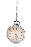 Old pocket watch with chain Royalty Free Stock Photos