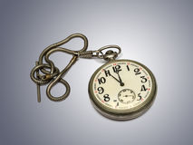 Old pocket watch with chain Stock Images