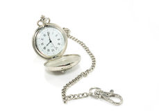 Old pocket watch with chain Royalty Free Stock Photo
