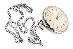 Old pocket watch with chain Royalty Free Stock Image