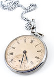 Old pocket watch with chain Stock Photos