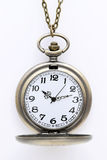 Old pocket watch with chain. On white background Stock Image