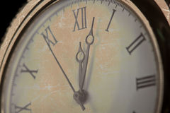 Old pocket watch close-up macro Royalty Free Stock Images