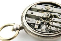 Old pocket watch mechanism Royalty Free Stock Image