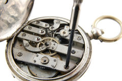 Old Pocket Watch Mechanism Royalty Free Stock Photos