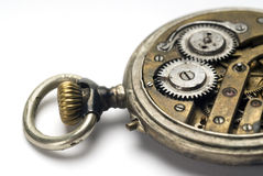 Old pocket watch mechanism Stock Photography