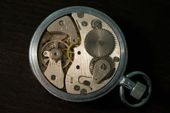 Old pocket watch mechanism Stock Image