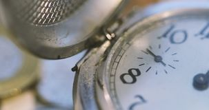 Old Pocket Watch Open stock video footage