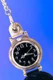 Old pocket watch on pop background Royalty Free Stock Photography