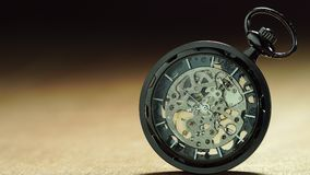 Old pocket watch is rotating. Closeup old pocket watch is rotating. Concept of valuable time and no time off stock footage