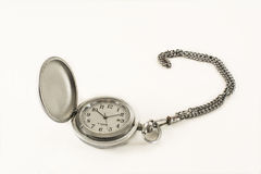 Old pocket watch. On a white background Royalty Free Stock Image