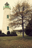 Old Point Comfort Lighthouse. In Virginia Royalty Free Stock Photo