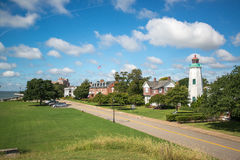 Old Point Comfort Lighthouse, Fort Monroe, Virginia Stock Photos