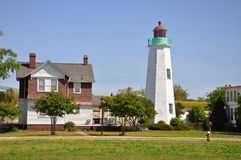 Old Point Comfort Lighthouse, VA, USA Stock Images