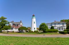 Old Point Comfort Lighthouse, VA, USA. Old Point Comfort Lighthouse in Fort Monroe, Hampton, Chesapeake Bay, Virginia, USA Royalty Free Stock Photo