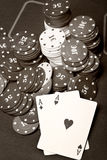 Old poker Royalty Free Stock Images