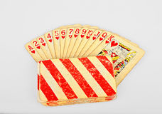 Old  poker playing cards Royalty Free Stock Photography