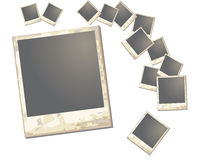 Old polaroid Frame Stock Images