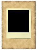 Old polaroid frame at vitage. Background with clipping work path Royalty Free Stock Images