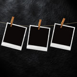 Old polaroid photo template Royalty Free Stock Image
