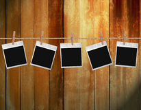 Old polaroid photos Royalty Free Stock Image