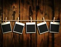Old polaroid photos Stock Image
