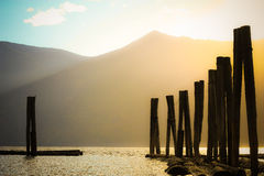 Free Old Poles In The Water 1 Royalty Free Stock Image - 16429846