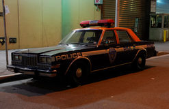 Old Police Car in New York City Royalty Free Stock Photo