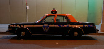 Old Police Car in New York City Stock Image