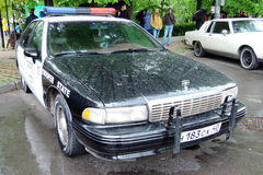 Old police car at Retro Fest in Moscow Royalty Free Stock Images