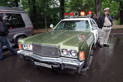Old police car at Retro Fest in Moscow Stock Image
