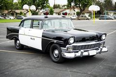 Old police car. Police car from the 50s Stock Image