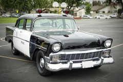 Old police car. Police car from the 50s Royalty Free Stock Image