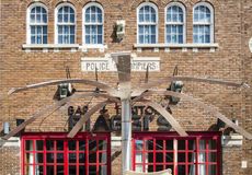 Old police and fire station details Royalty Free Stock Photography