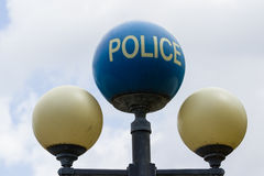 Old Police sign Stock Photos