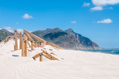 Old police station at Hout Bay reclaimed by sand dunes Stock Images