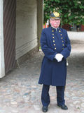 Old police uniform. Linkoping. Sweden Royalty Free Stock Photography