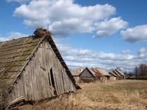 Old polish architecture. Old wooden architecture in Bialowieza Podlasie Poland Stock Photos